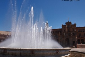 Plaza de España fountain, Seville, Spain