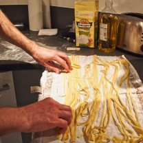 January: learning and enjoying eating home-made pasta