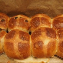April: Made my own hot cross buns