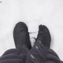 Feet in snow