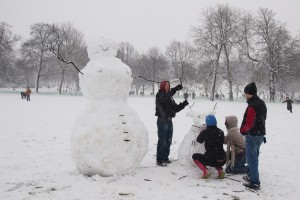 Snow family building