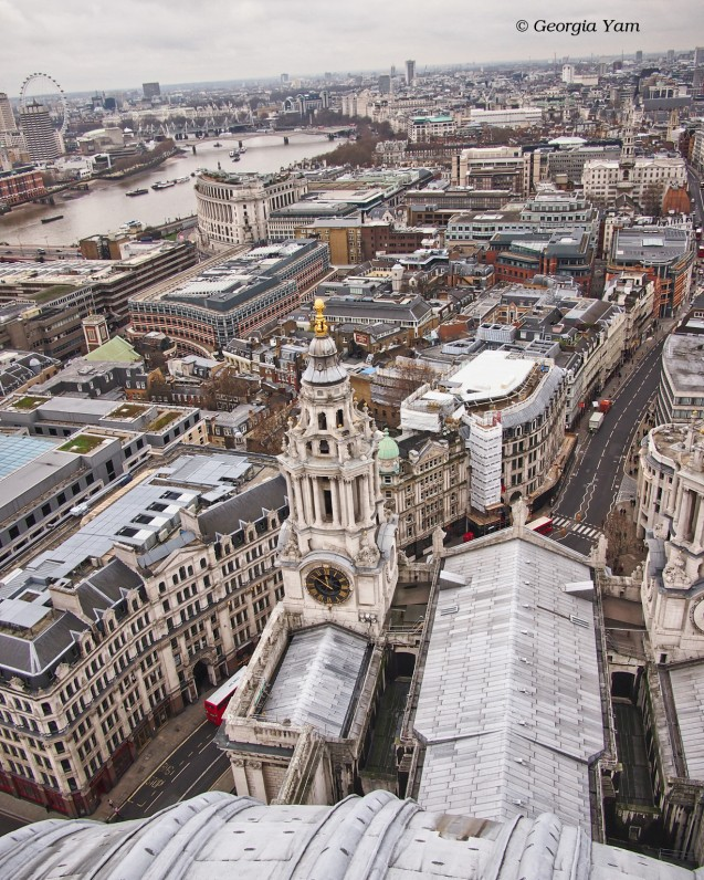 view from the top of St Paul's Cathedral