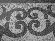Tiled pavement, Lisbon, Portugal