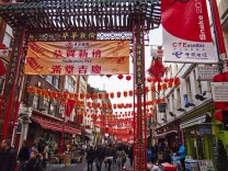 London's Chinatown at Chinese New Year