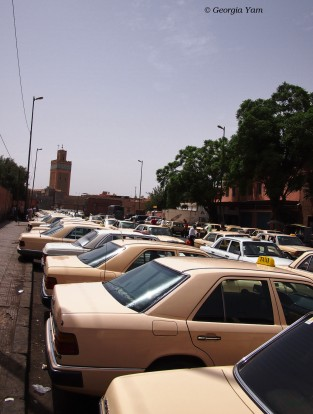 The road to get a taxi, Marrakesh, Morocco