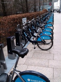 Barclay's bike hire station