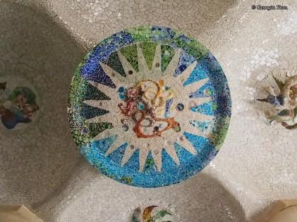 blue sun mosaic