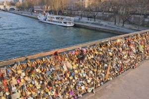 Love locks bridge