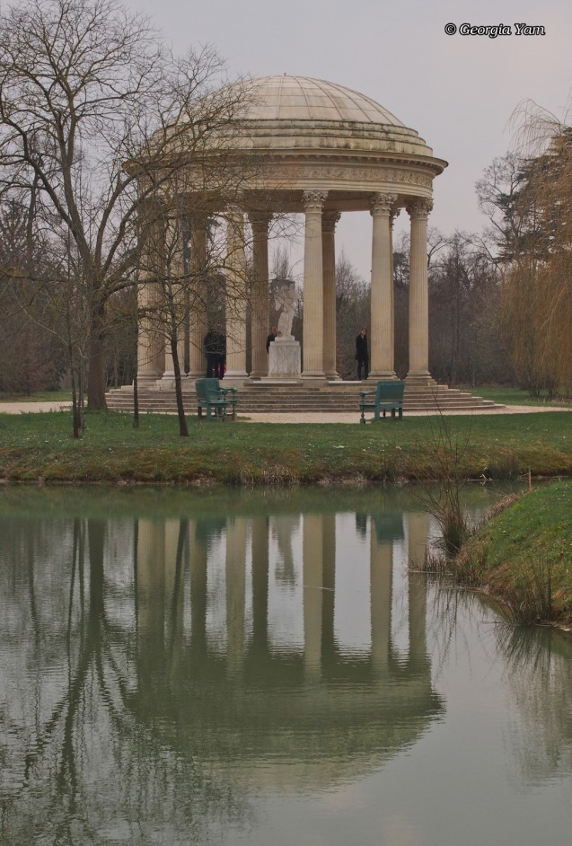 pavilion and water reflection
