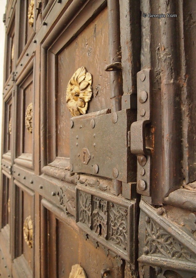 Door with a big lock