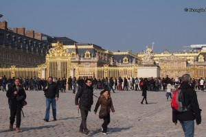 gates to the Palace of Versailles