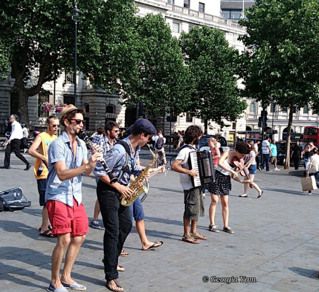 Listening to buskers