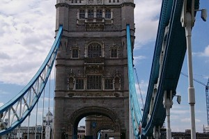 Walking across Tower Bridge