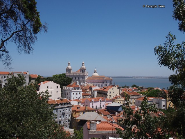 roofs in Lisbon from St George's Castle