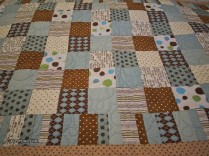 brown patchwork