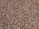 Pebbled floor