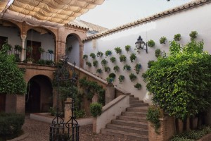 courtyard stairs up