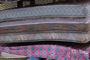 Feet under mattress stack