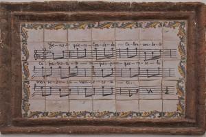 framed musical score