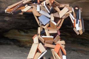 wooden man sculpture