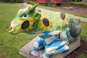 tea party cow moooving art