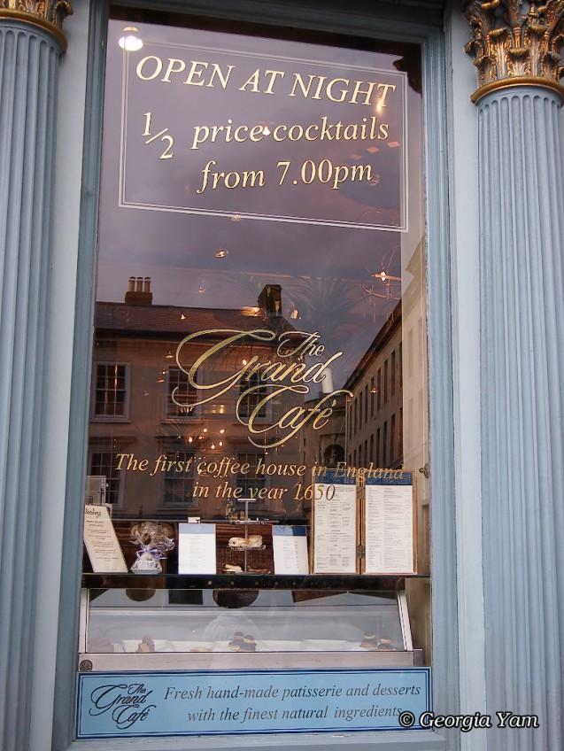 Grand cafe window