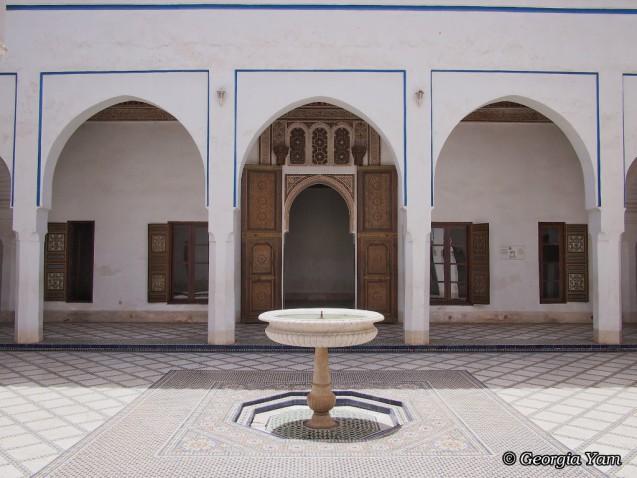 white courtyard