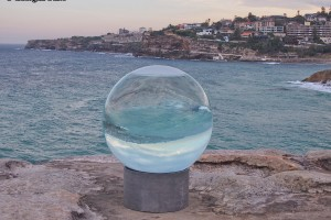 round glass sculpture