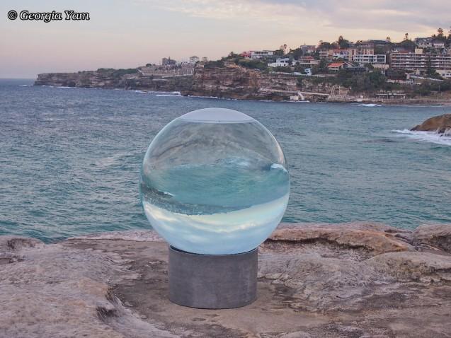 round glass sculpture