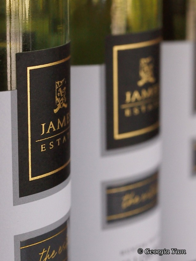 James Estate wine bottles