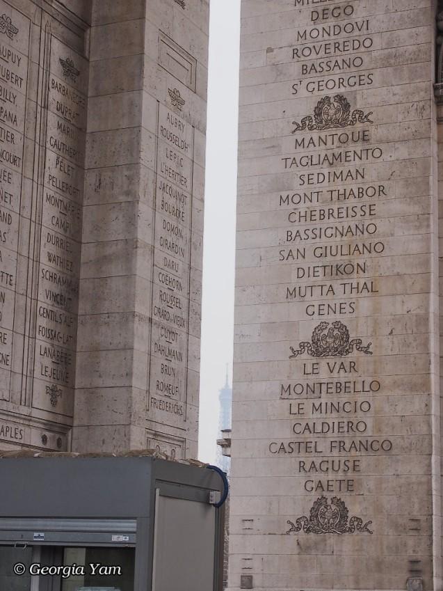 Arc de Triomphe names