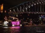 Vivid boat & bridge