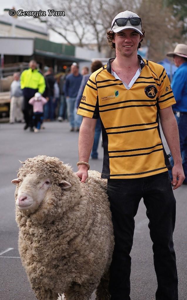 Happy sheep man