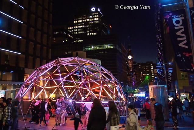 Vivid Sydney city
