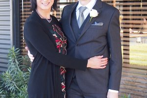 me and Jedd at the wedding