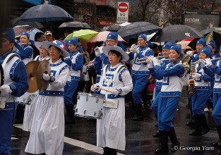 blue & white parade band
