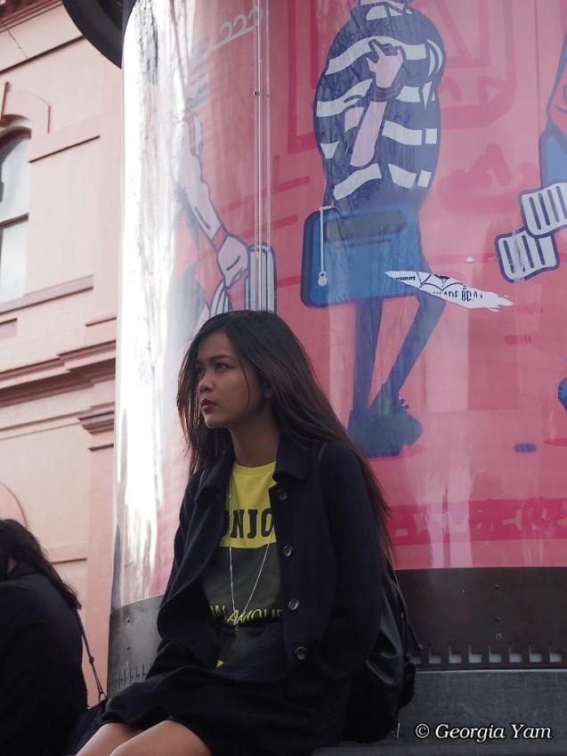 girl waiting Newtown