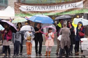 sustainability lane sign