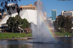 Adelaide fountain rainbow