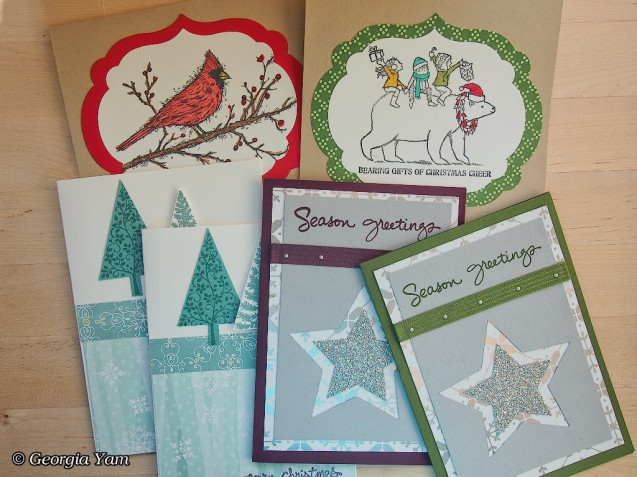 Stamped Christmas cards