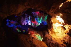 colourful Jenolan caves