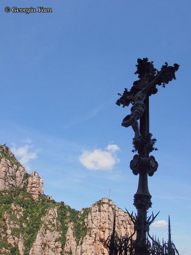cross at Montserrat, Spain