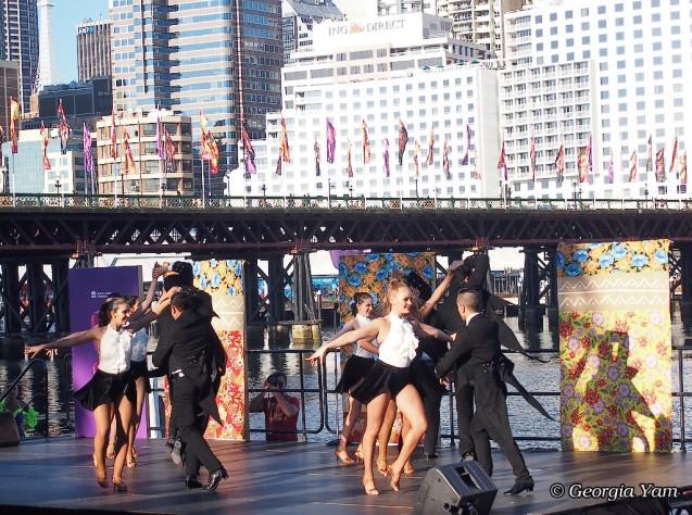 Latin fiesta dancers