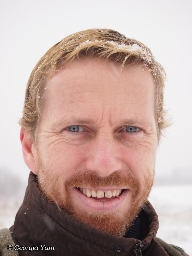 Jedd with beard and snow