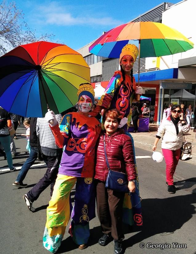 rainbow colour people