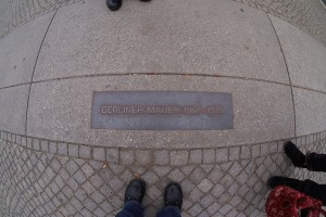 Berlin Wall feet